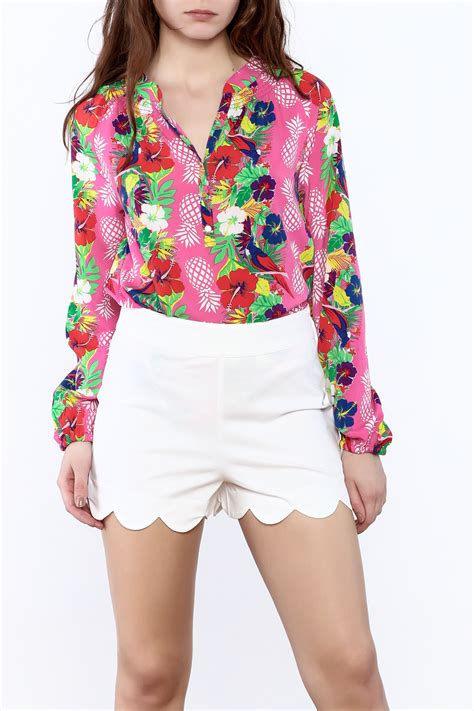 pineapple blouse macbeth collection tropical pineapple blouse from south