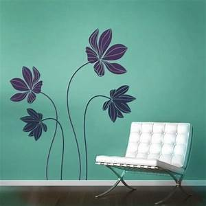 cyclamen flower set decal vinyl wall decals With flower wall decals