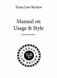 Manual On Usage And Style  Mous