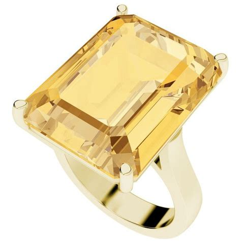 stylerocks citrine emerald cut  carat yellow gold