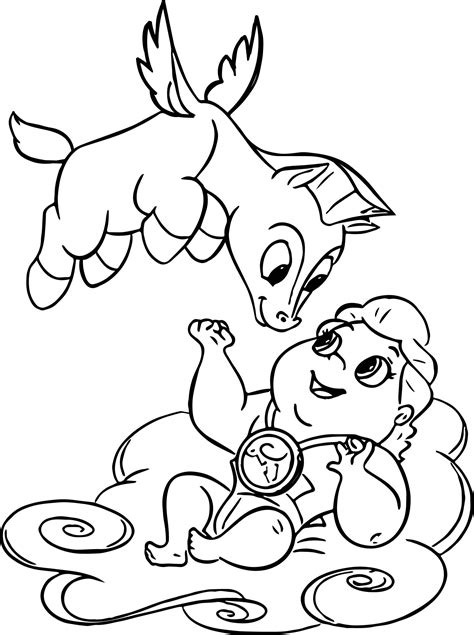 Cute Baby Pegasus Coloring Pages SCX Slots