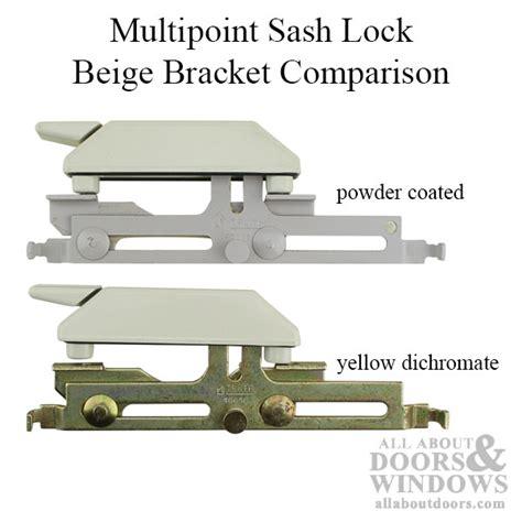 rh multipoint sash lock  bracket cylindrical rivet sleeve tie bar application choose color