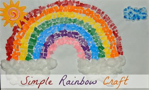 rainbow crafts for paint chips rainbow craft 702 | easy rainbow craft