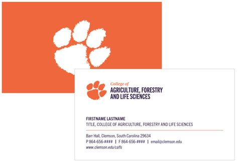business cards college  agriculture forestry  life