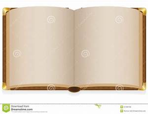 Old Open Book With Blank Sheets Royalty Free Stock Image ...
