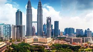 Full HD Wallpaper petronas towers kuala lumpur top view ...