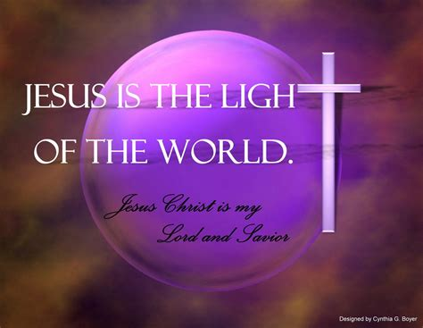 jesus light of the world bible verses our christian walk in faith
