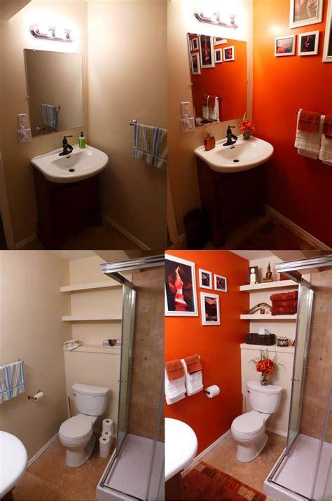 Orange Bathroom Wall Decor by Orange Bathroom Before After House Design Orange