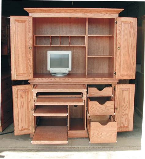 Home Office Armoire by Office Armoire With Doors Overall 49 1 2 Quot Wide X 28 1 2
