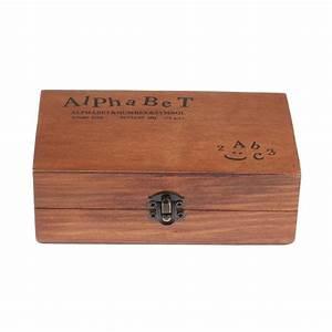 2016 70pcs vintage diy number and alphabet letter wood With large letter stamps for wood