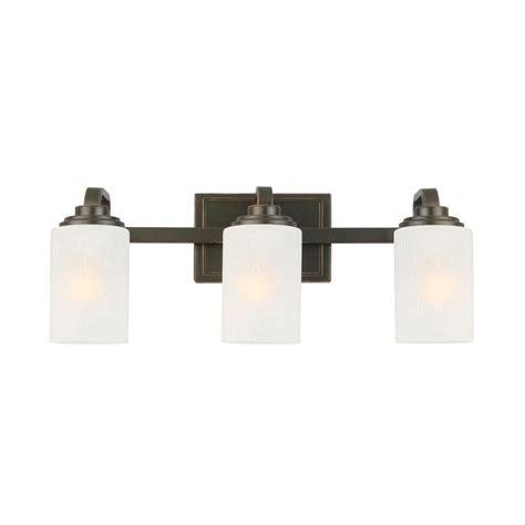 3 Light Bathroom Light Fixture by Hton Bay 3 Light Rubbed Bronze Vanity Light