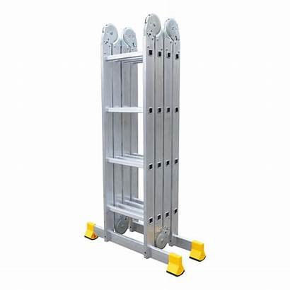 Ladder Aluminum Step Metal Isolated Background Storage