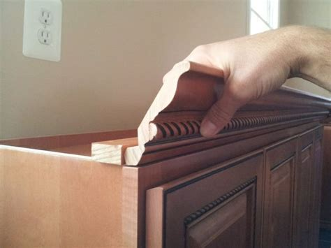 size nails  kitchen crown molding carpentry