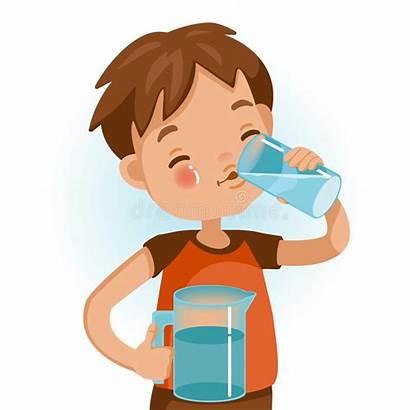 Water Drinking Drink Boy Kid Clipart Child
