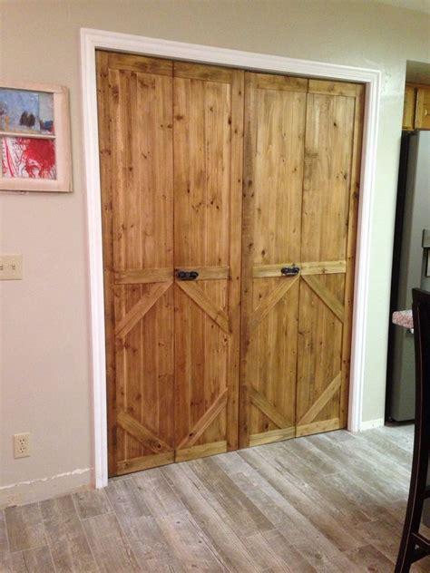 Bifold Interior Closet Doors by Bifold Door Made Into Barn Door Style Cut To Size
