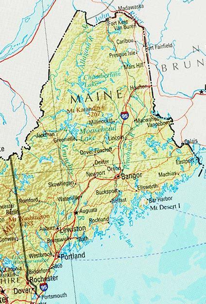 landkarte maine uebersichtskarte weltkartecom karten
