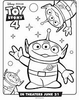 Toy Story Aliens Coloring Pages Printable A4 Categories Version sketch template