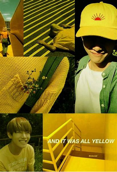 Yellow Bts Aesthetic Taehyung Wallpapers Wallpaperaccess Lockscreen