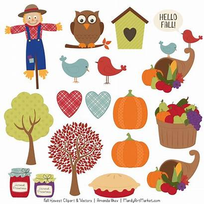 Clipart Autumn Fall Harvest Fun Paper Recycled
