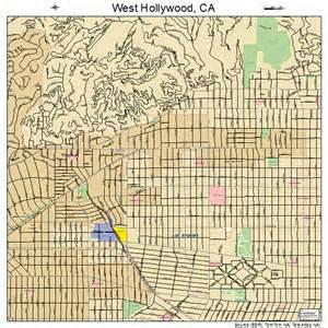 West Hollywood California Street Map