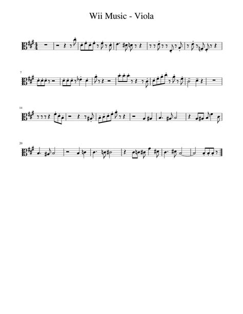 Third position smear exercises for viola. Wii Music - Viola Sheet music for Viola | Download free in PDF or MIDI | Musescore.com