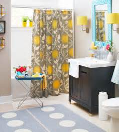 grey and yellow bathroom decor ideas