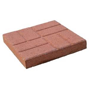 shop brickface patio common 16 in x 16 in actual 16 in x 16 in at lowes