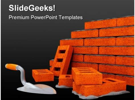 brick wall construction powerpoint templates