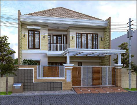 gaya desain rumah mewah modern klasik yg  baik