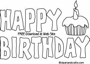 happy birthday sign to color fun for children With happy birthday big letters