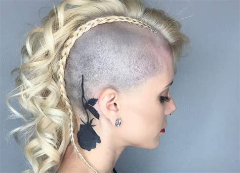 peerless mohawk hairstyles  blonde women