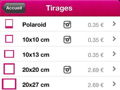 tirage papier au format polaroid avec polagram sur iphone le test
