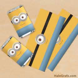 Candy Bar Wrappers Free Printable Minion Template