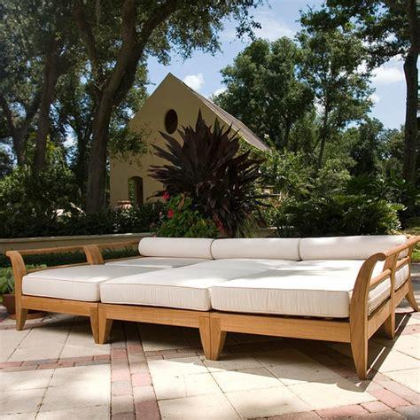 aman dais 6 pc teak day bed mediterranean outdoor