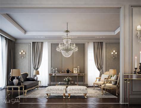 neo classic living room  behance