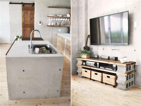 kast maken betonblokken diy stoer en robuust tv meubel roomed