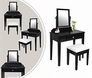 Coiffeuse Meuble Noir : miroir rectangulaire noir ~ Teatrodelosmanantiales.com Idées de Décoration