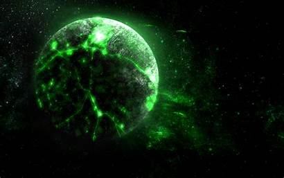 Space Planet Bright Glow Borg 4k Background