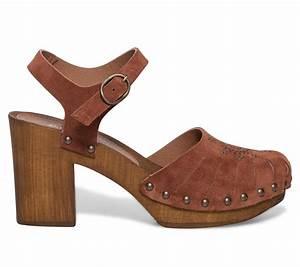 Sabot De Sécurité Femme : sabot bride cro te de cuir rouille sandales talon ~ Dailycaller-alerts.com Idées de Décoration