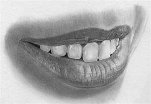 Speed Drawing Lips and Teeth | Realistic Pencil Drawing ...