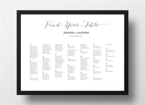 wedding seating chart poster template invitation printable seating chart poster template 2510930 weddbook