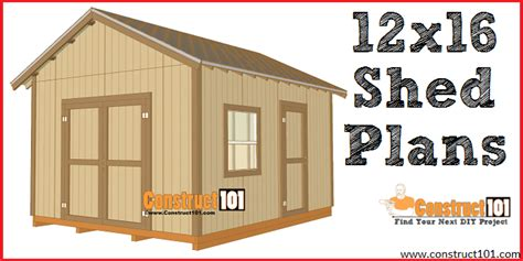 10 by 12 shed plans free 12x16 shed plans gable design construct101