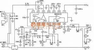 Circuit Of Ka2213 Single Tape Recorder