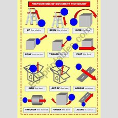 Prepositions Of Movement Pictionary  Esl Worksheet By Aldanavenadotuerto