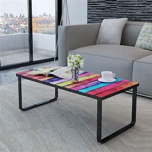 Wohnzimmertisch Mit Glasplatte : wohnzimmertisch mit farbmix print glasplatte g nstig kaufen ~ Markanthonyermac.com Haus und Dekorationen