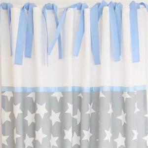 Vorhänge Grau Weiß : vorhang maxi sterne wei grau blau ca 140 x 250 cm vorh nge gardinen vorh nge vorh nge ~ Orissabook.com Haus und Dekorationen