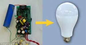Smartbulb Switches To Rechargeable Battery In A Power Cut