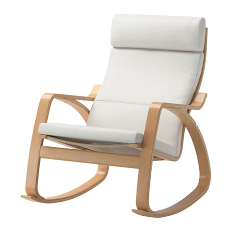 chaise à bascule ikea poäng fauteuil à bascule finnsta blanc ikea