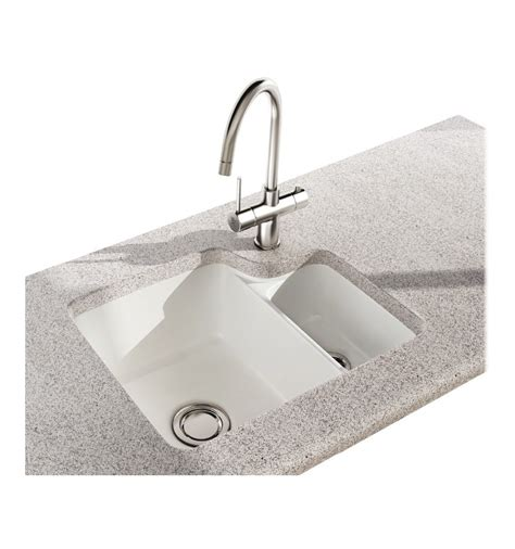 undermount porcelain kitchen sinks carron carlow 150 ceramic undermount bowl half 6600