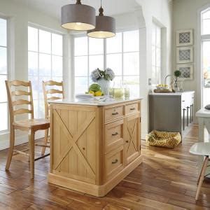 5 ft kitchen island home styles country lodge pine kitchen island with quartz 3922